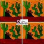 Azulejo Talavera modelo Rancherito fondo Mostaza en 10.5 x 10.5 cm, ideal para baños y cocinas mexicanas lo encuentras en Rústicos Artesanales visítanos en nuestra web www.rusticosartesanales.com