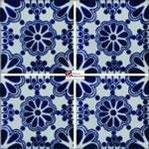Azulejo Talavera modelo Lace Azul en 10.5 x 10.5 cm, ideal para baños y cocinas mexicanas lo encuentras en Rústicos Artesanales visítanos en nuestra web www.rusticosartesanales.com
