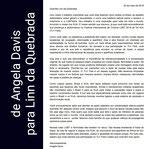 Carta de Angela Davis a Linn Da Quebrada
