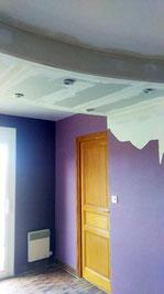 Ajout d'un faux plafond - Menuiserie Deslandes