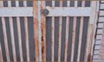 門、扉のサビ