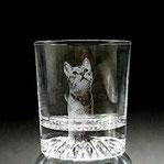 ペット写真彫刻グラス
