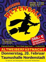 Großer Hexenball 2020 in der Taunushalle-Nordenstadt