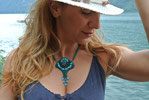Marina Collana ricamata a perline - Marina Perlenbesticktes Collier
