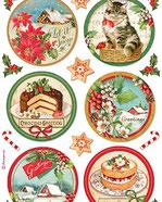 Papeles para decoupage soft y de arroz temática navidad