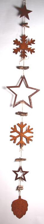 Deko Kette mit Rost-und Holz Accessoires
