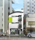岡山市に建設予定の1階が医院の外観パ-ス