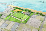 兵庫県に整備される防災公園の鳥瞰パース