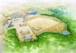 鳥取県に整備される産廃施設の鳥瞰パース