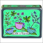 Boîte à Tisanes tasses verte