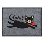 Tapis de cuisine Chalut chat noir gris