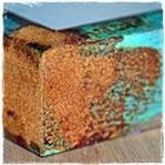 Rost selber machen, Grünspan auf Gold und Silber oxidieren lassen, Silberfarbe, Goldfarbe