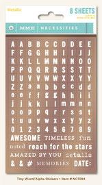 UK STockists MME Alphabet Stickers