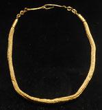 Goldkette in Drahtwebtechnik