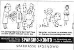 Spargiro-Konto Inserat Sparkasse vor 1960.