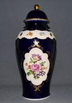 Urnenvase, Porzellan,Echt Kobalt, Blumen, Wallendorfer Porzellanfabrik, 31,5 cm , € 115,00