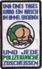 lustiger Spassaufnäher 1.FC Haudanem, Trikot Abzeichen, Patch