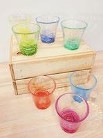 HANDMADE GLASS CUP: WISTELIA