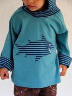Hoodie Lumpenprinzessin Haifisch blau