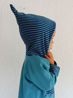 Hoodie Kapuzenpulli Sweat Haifisch blau - designed by Lumpenprinzessin