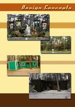 Thematisierung von Freiflächen & Verkleidung Bürokontainer