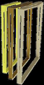 pied de table design pour cuisine couleur jaune