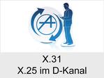 Funktionserweiterungen und Freischaltungen für Anlagen und Telefone: X.31 (X.25 im D-Kanal)
