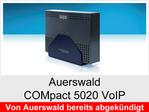 """Funktionserweiterungen und Freischaltungen für Auerswald COMpact 5020VoIP"""": Gesprächsdatensätze"""