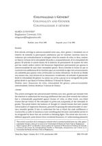 Colonialidad y Género. María Lugones