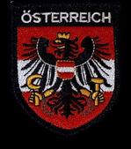 Stoffwappen Österreich Adler rot-weiß-rot