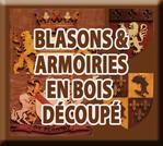 BLASONS ET ARMOIRIES EN BOIS