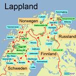Bild: Karte von Lappland