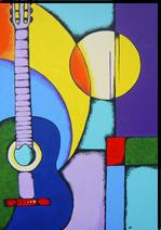 Gemälde, Leinwand, Kunst, art, Augenfreud, Original, Unikat, Acryl, Musik, Gitarre, Malerei, abstrakt, bunt, 3