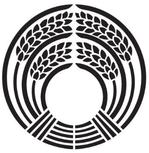 家紋「稲荷抱き稲」
