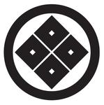 家紋「丸に隅立て四つ目」