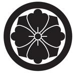 家紋「丸に四方剣花菱」
