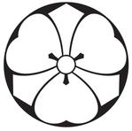 家紋「石持ち地抜き剣片喰」
