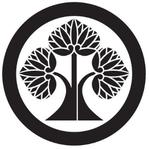 家紋「丸に右離れ立ち葵」