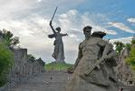 Сталинградская битва, Мамаев курган, Родина-мать зовет, Волгоград, Стоять насмерть
