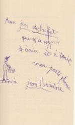 L'Anselme éméule de Dubuffet, écrivant de la main gauche