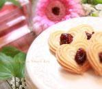 ピンク愛やさしさオーガニックチェリーハートクッキー