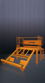Plataforma de lavado para cubilotes de hormigón