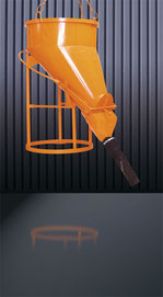 Cubilote hormigón manguera