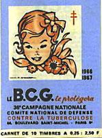 Timbre anti-tuberculeux sur le BCG