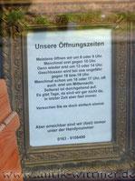 Öffnungszeiten Wittmer Antiquitäten