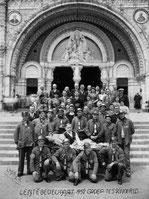 Mijnwerkersbrankardiers-bedevaart Lourdes 1952