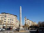 Площадь Пятерки Динариев в Барселоне