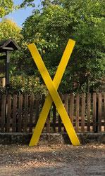 das Gelbe X