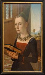Dame in Houppelande und Hennin. Druck des 19. Jahrhunderts (CC BY-SA 2.0, flickr, picture by plaisanter~)