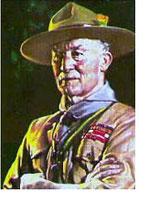 Il fondatore dello scoutismo Lord Robert Baden-Powell